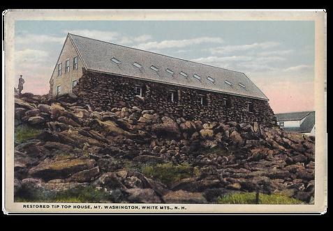 Framed Postcard of Tip Top House, NH