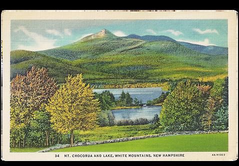 Framed Postcard of Mt. Chocorua, NH