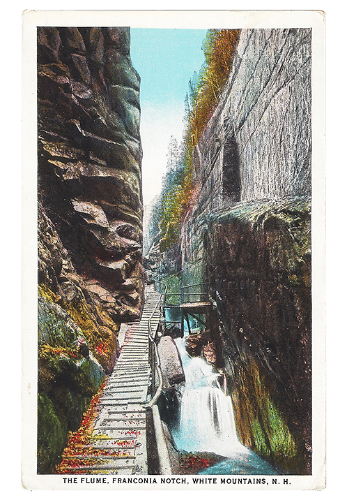 Framed Postcard: The Flume, White Mountains, NH