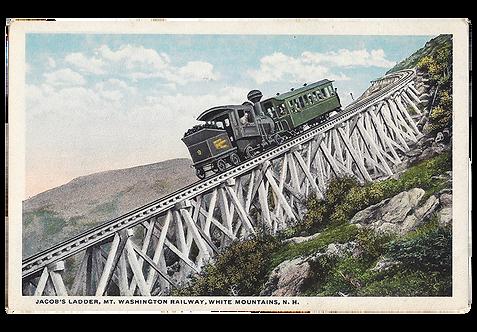 Framed Postcard: Railway on Mt. Washington, NH