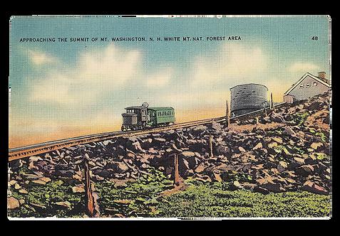 Framed Postcard: Summit of Mt. Washington, NH