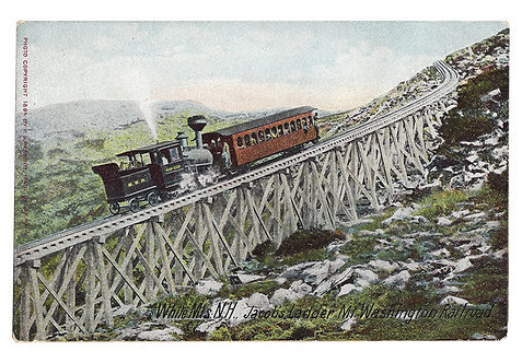 Framed Postcard: Cog Railway, Mt. Washington, NH