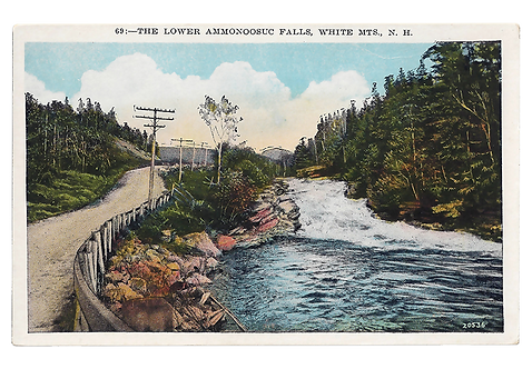 Framed Postcard of Ammonoosuc Falls, NH