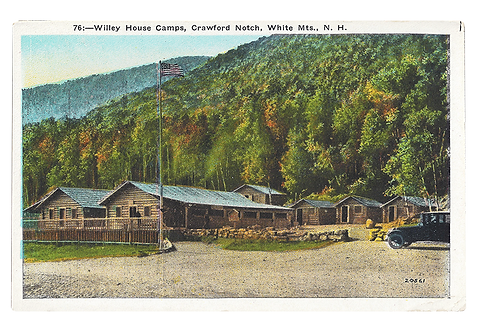 Framed Postcard: Willey House Camps, NH