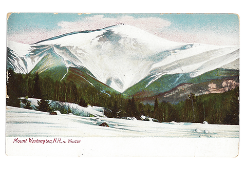 Framed Postcard: Mt. Washington in Winter NH