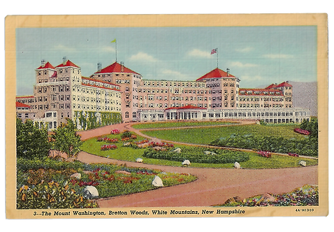 Framed Postcard of Mount Washington Hotel, NH