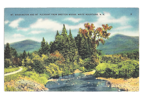 Framed Postcard of Bretton Woods, NH