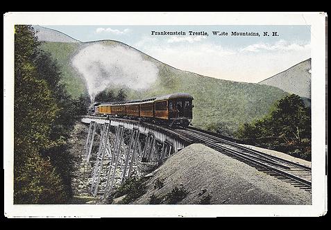 Framed Postcard: Frankenstein Trestle, NH