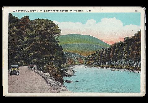 Framed Postcard: Crawford Notch, White Mts., N.H.