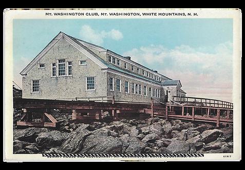 Framed Postcard of Summit of Washington, NH