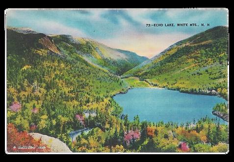 Framed Postcard of Franconia Notch, NH
