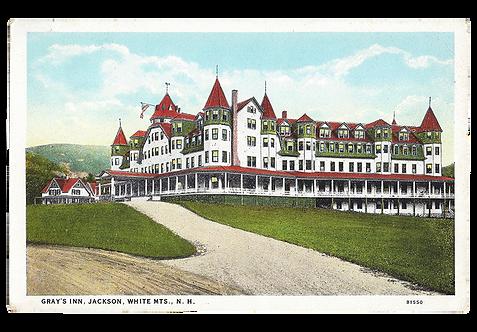 Framed Postcard: Gray's Inn, Jackson, N.H.