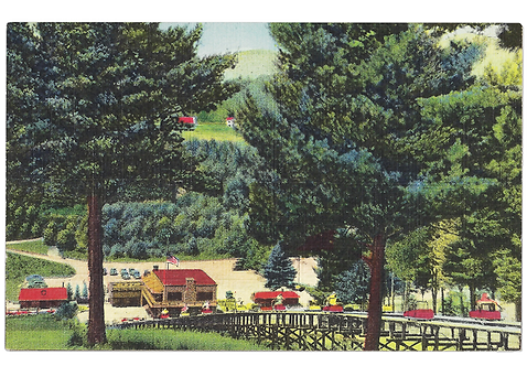 Framed Postcard of Cranmore, Ski-Mobile