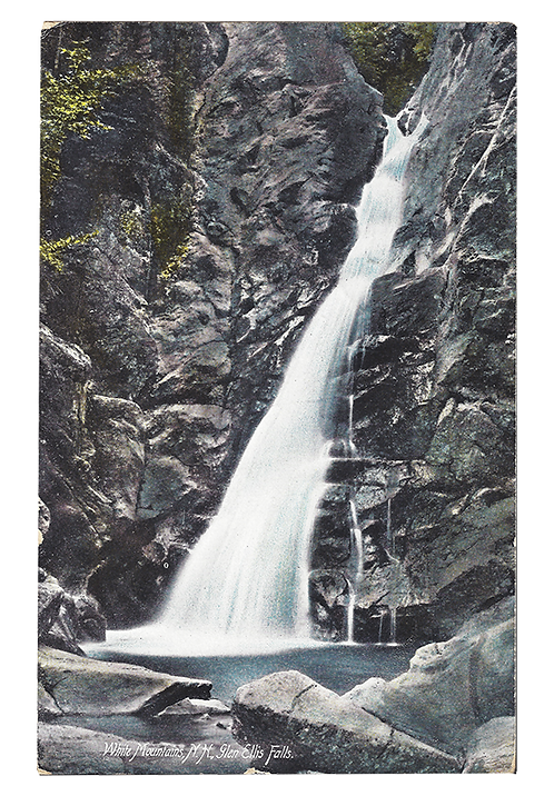 Framed Postcard: Glen Ellis Falls, NH