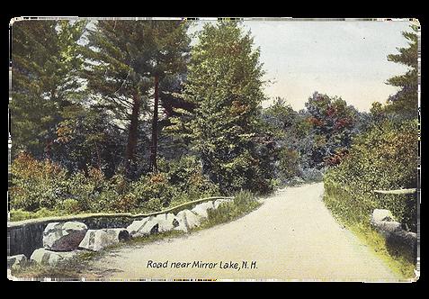 Framed Postcard Mirror Lake, NH