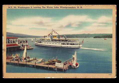 Framed Postcard: Lake Winnipesaukee, NH
