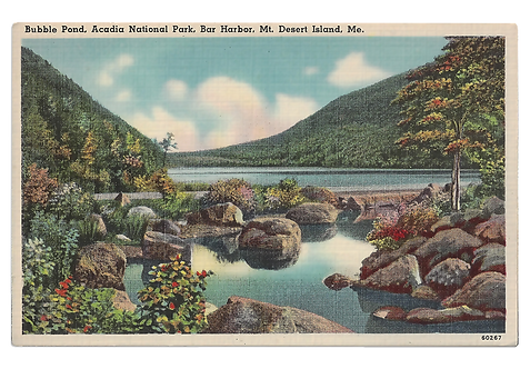 Framed Postcard of Acadia National Park, ME