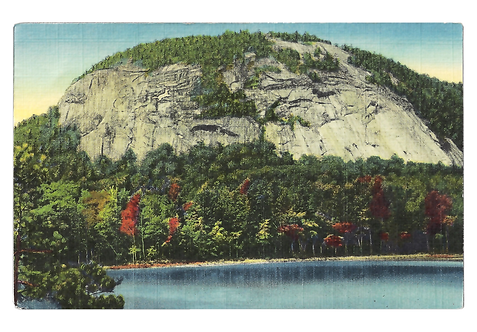 Framed Postcard of Whitehorse Ledge, NH