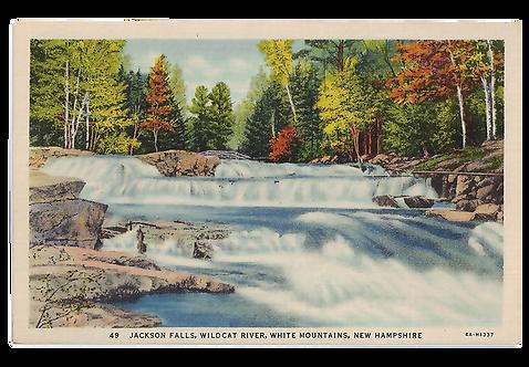 Framed Postcard of Jackson Falls, NH