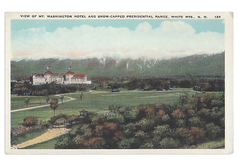 Framed Postcard of Mount Washington Hotel, NH