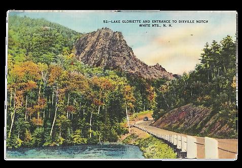 Framed Postcard of Dixville Notch, NH