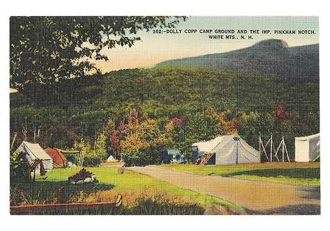 Framed Postcard: Dolly Copp, White Mountains, NH
