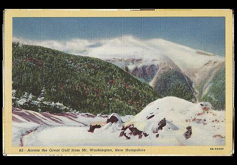 Framed Postcard: Great Gulf, Mt. Washington, NH