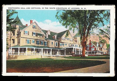 Framed Postcard: Wentworth Hall, Jackson, N.H.