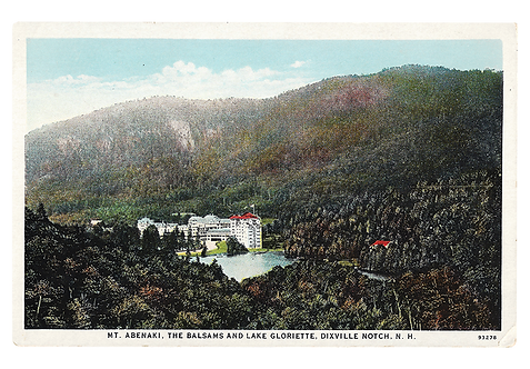 Framed Postcard: The Balsams, Dixville Notch, N.H.