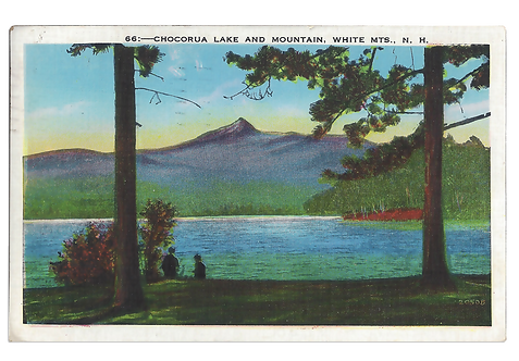 Framed Postcard of Chocorua, NH
