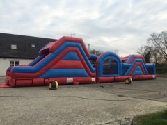 Red & Blue 60Ft Sligo Bouncy Castle Hire
