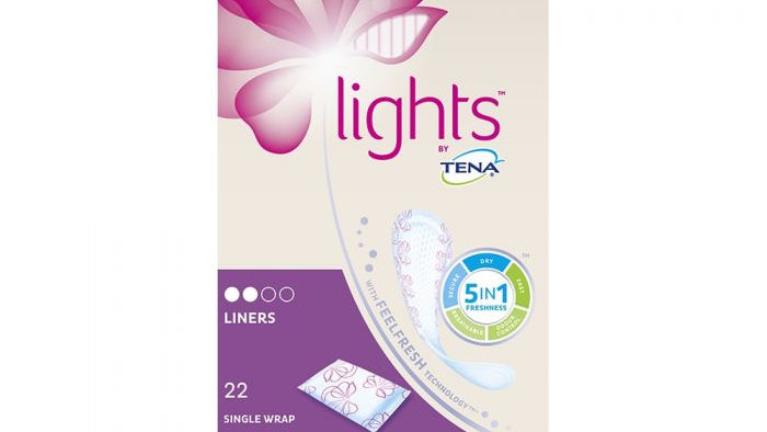 Lights by TENA - Liners (Single Wrapped) - Pack of 22