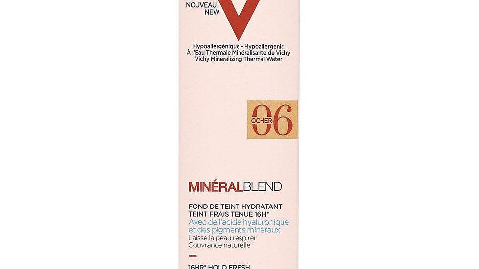 Vichy Minéralblend 16HR Hold Fresh Complexion Hydrating Foundation 30ml 06 Ocher