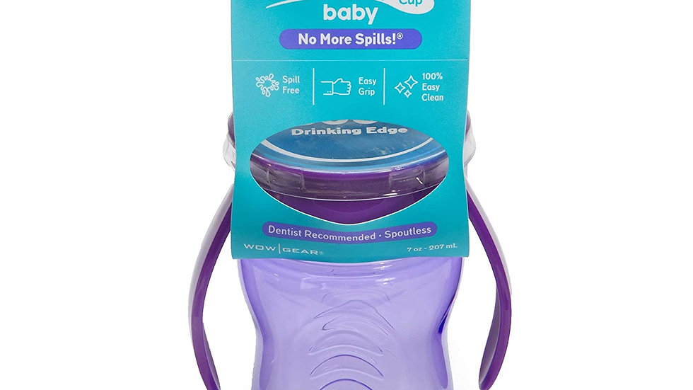 Wow Baby® TRITAN® 360⁰ Spill-Free with Handles, Purple - 7oz /207ml