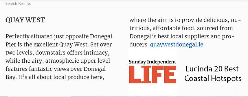 Quay West Donegal Lucinda 20 Best Coasta