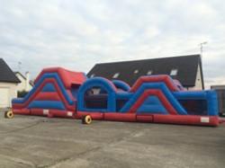 Red & Blue 60Ft Sligo Bouncy Castle Hire