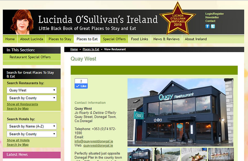 Quay West Donegal Best Places To Eat 201
