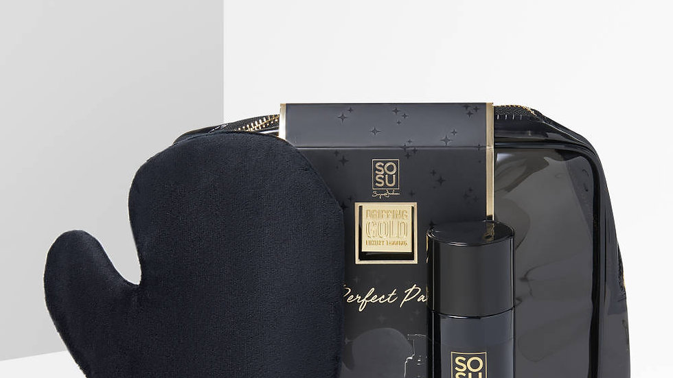 SoSu Dripping Gold Luxury Tanning Gift Set (Lotion & Mitt) Medium