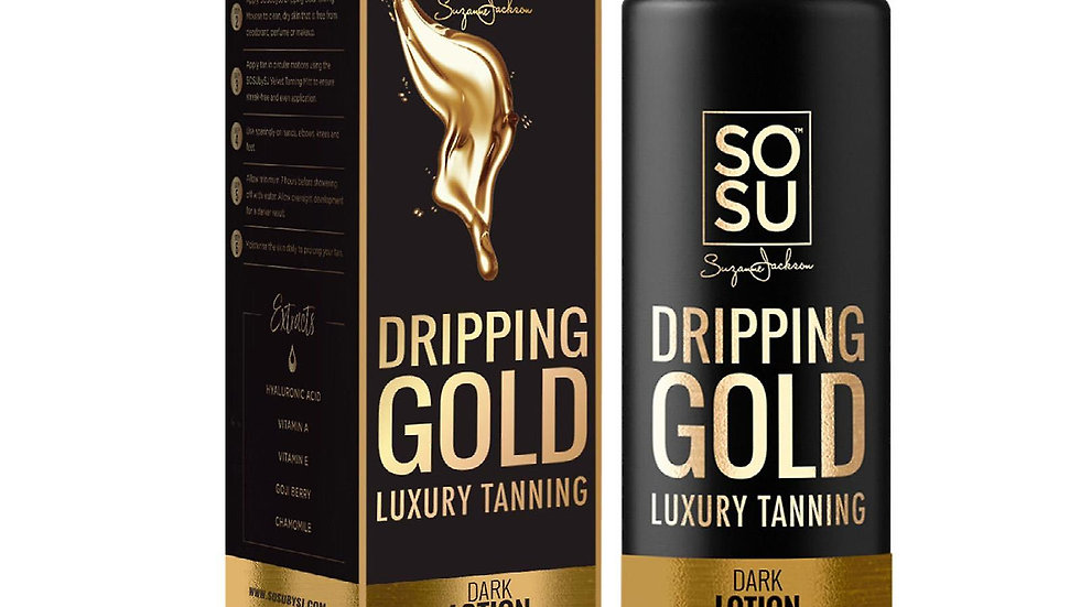 SOSU Dripping Gold Luxury Tanning Lotion Dark
