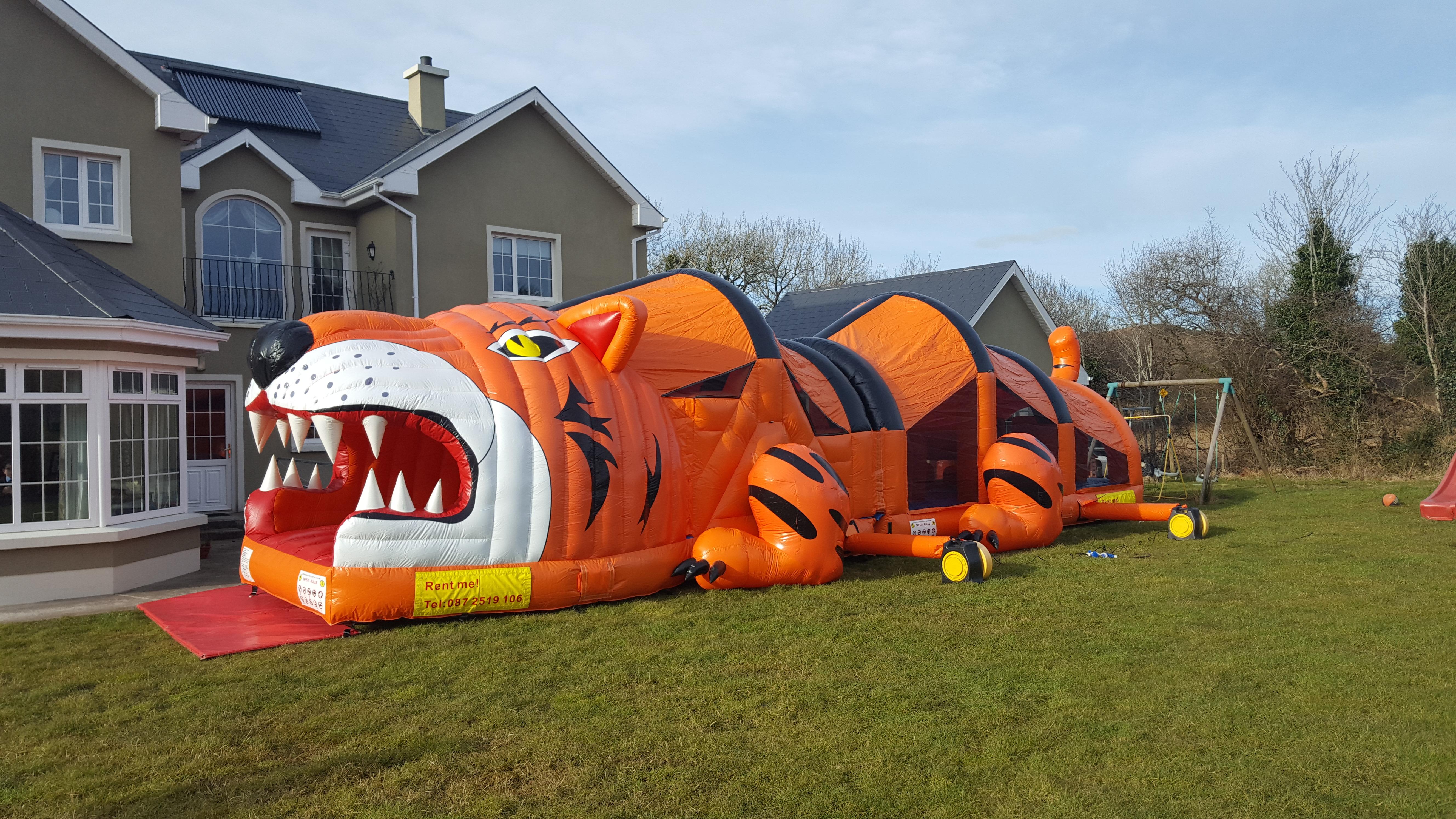 SLigo Bouncy Castles Tiger Course