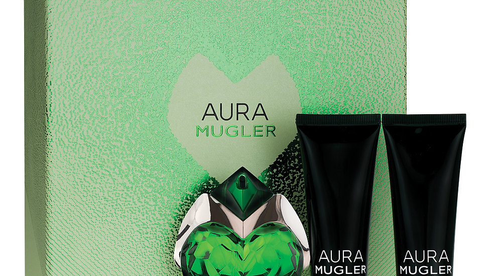 AURA Mugler Refillable Bottle 30ML EDP/50ML Body Lotion/50ML Shower Milk