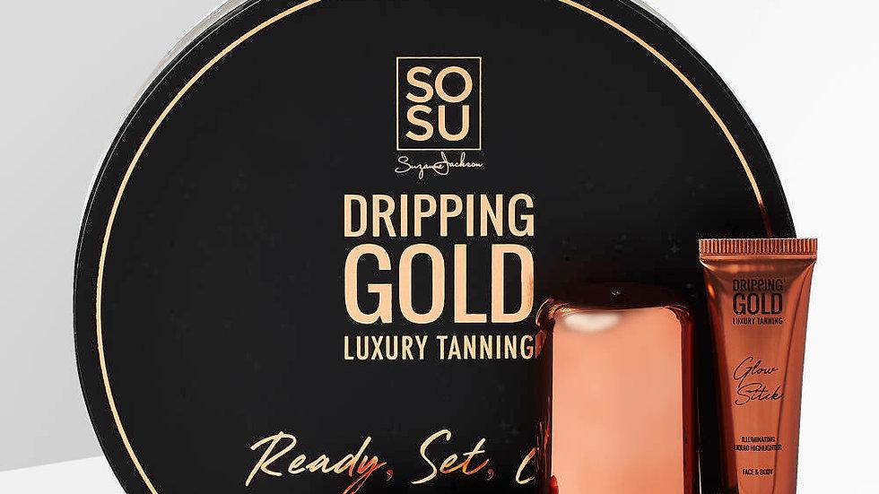 SoSu Dripping Gold Luxury Tanning Ready, Set, Glow Gift Set