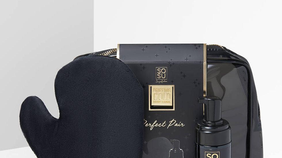 SoSu Dripping Gold Luxury Tanning Gift Set (Mousse & Mitt) Dark/Ultra Dark