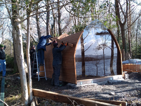 The building of our Sauna
