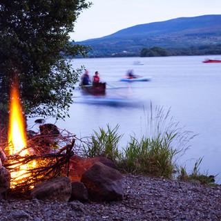 Lakeside campfire