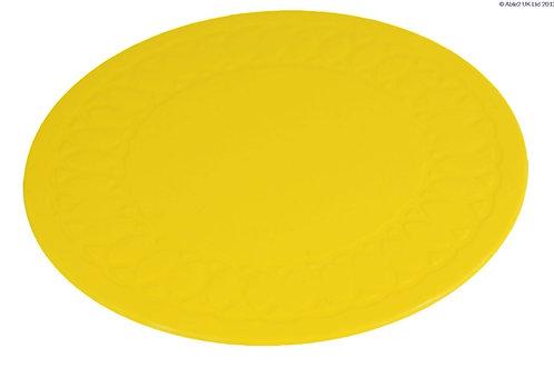 Anti Slip Coaster 14 cm Diameter - Yellow