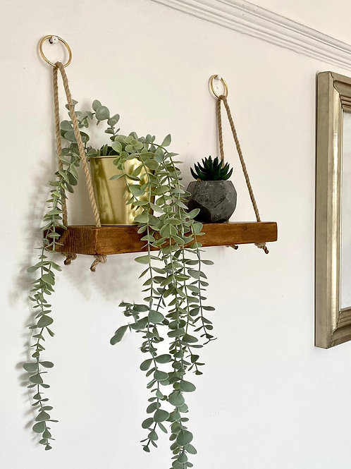 Small Slim Rope Shelf