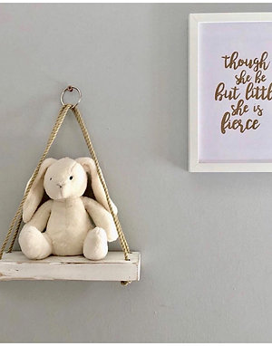 Nursery Shelf - Small Pyramid Rope Shelf