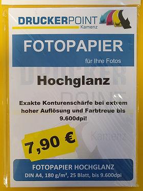 Fotopapier 120g/m² Hochglanz