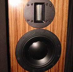 Mini speakers in Zebrano veneer